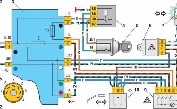 Схема фар ВАЗ 2107